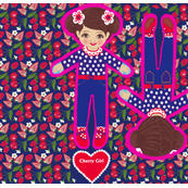 Fat Quarter Doll (Cherry Girl)