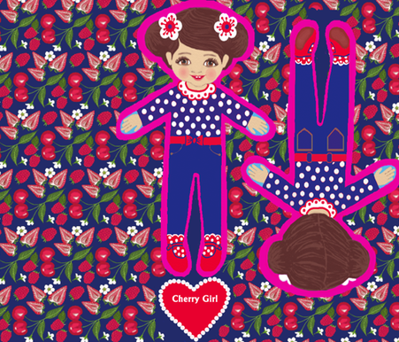 Doll, Fat Quarter project , cut and sew  fabric by magentarosedesigns on Spoonflower - custom fabric