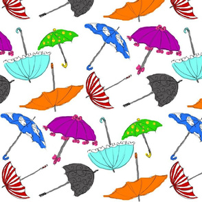 Sketchy Umbrellas