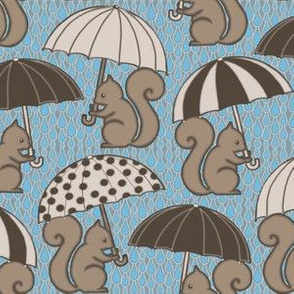 Rainy Day Squirrels
