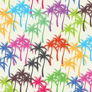 Colourful Palm Trees