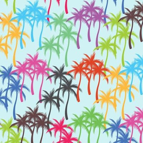 Colourful Palm Trees #2