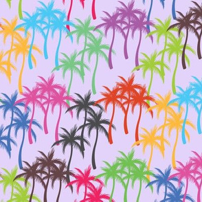Colourful Palm Trees #3
