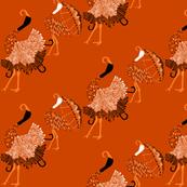 Umbrella cranes!