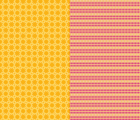4 designs per yard - orange and fuchsia fabric by hlozik on Spoonflower - custom fabric