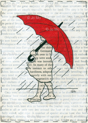 Red Umbrella Girl Book Page