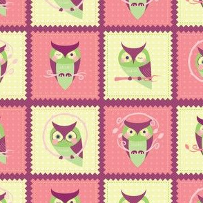 Owl Patchwork Squares