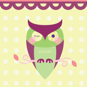 Owl Collage Stripes