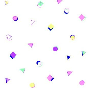Retro shapes (white)