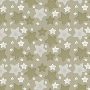 Gold Watercolor Stars