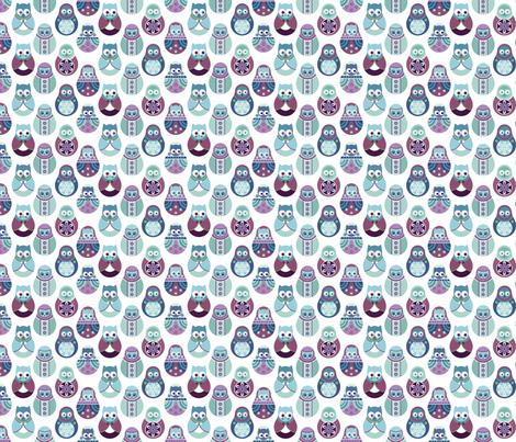 matryoshka owls fabric by pinkowlet on Spoonflower - custom fabric
