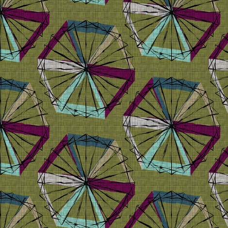 Umbrellas fabric by jenflorentine on Spoonflower - custom fabric
