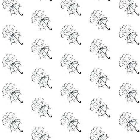 Hand drawn umbrella fabric by leopardessmoon on Spoonflower - custom fabric