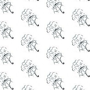 Hand drawn umbrella