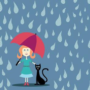Princess Kitty in the Rain