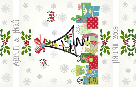 White Christmas-PERSONALIZED for Aaron & Heidi fabric by drapestudio on Spoonflower - custom fabric