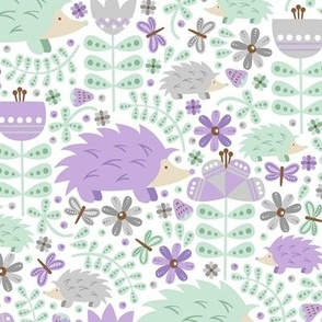 Winter Hedgehog Forest