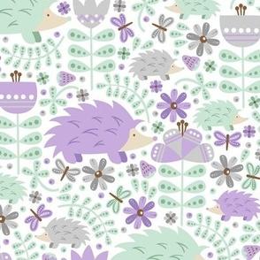 Winter Hedgehog Forest