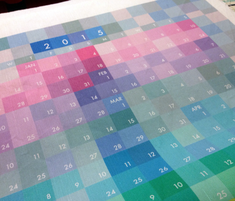 Colourblock calendar