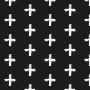 Grunge Crosses black