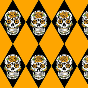HALLOWEEN SUGAR SKULL  ARGYLE