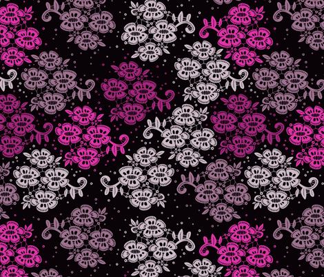 Floral Pink fabric by ornaart on Spoonflower - custom fabric