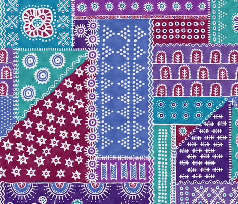 Batik Complete Cool fabric by beckarahn on Spoonflower - custom fabric