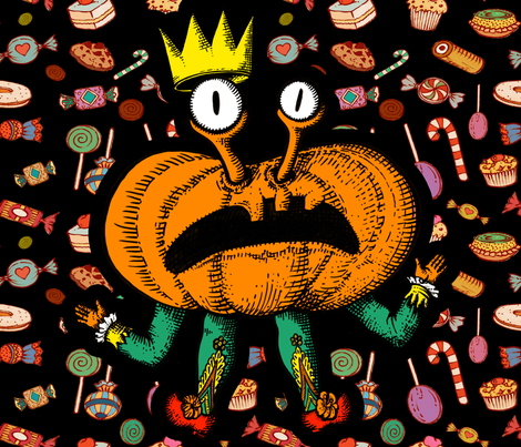 Pumpkin King fabric by chicca_besso on Spoonflower - custom fabric