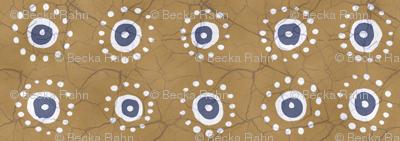 Batik Suns Earth Gold