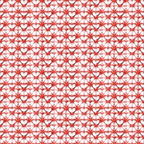 Ditzy Coral and White Tiny Shibori Pattern