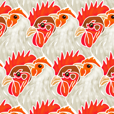 Who's Head of the Coop? fabric by eclectic_house on Spoonflower - custom fabric