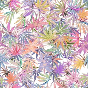 Marijuana Leaf Glow