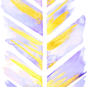 Watercolor Feather Chevron in Purple