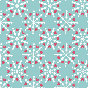 Love Snowflakes - Blue and Pink