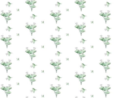 Gingko fabric by adeline_country_cottage on Spoonflower - custom fabric
