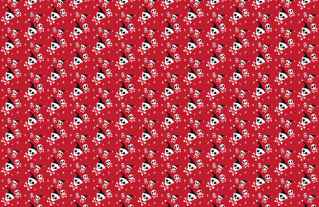 Christmas Skulls fabric by herewesewagain on Spoonflower - custom fabric
