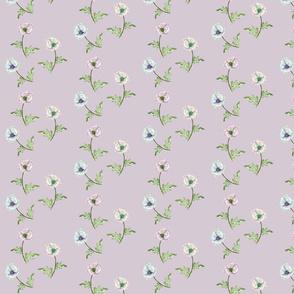 Poppy Pastels on Mushroom Grey