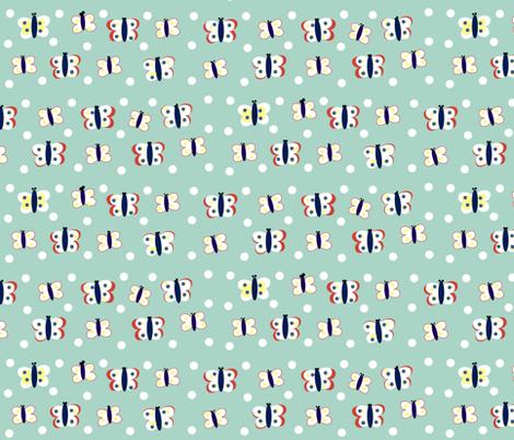butterfly blues-LG fabric by drapestudio on Spoonflower - custom fabric