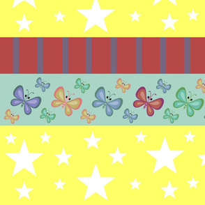 Magic-butterflie rainbow LG - yellow