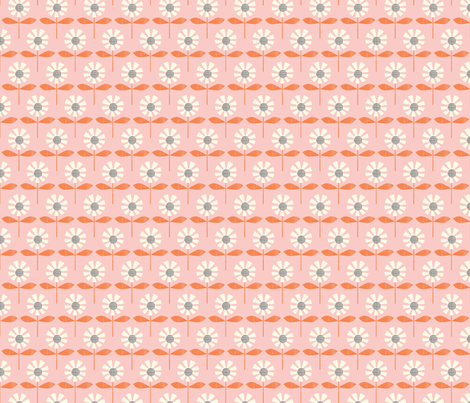 garden daisies fabric by shindigdesignstudio on Spoonflower - custom fabric