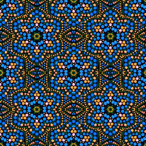 Dot Bloom, Blue fabric by eclectic_house on Spoonflower - custom fabric