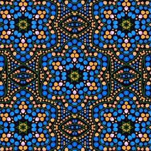 Dot Bloom, Blue