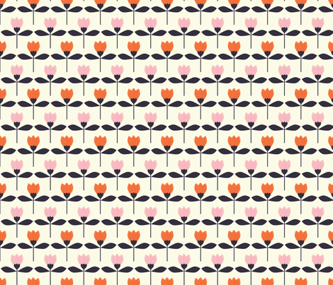 garden tulips fabric by shindigdesignstudio on Spoonflower - custom fabric