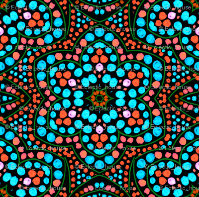 Dot Bloom Aqua