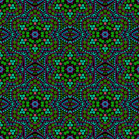 Dot Bloom, Green fabric by eclectic_house on Spoonflower - custom fabric