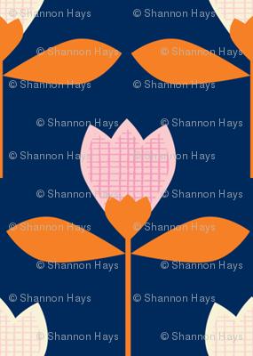 garden tulips navy