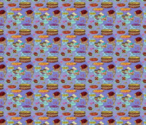 Tea time fabric by linsart on Spoonflower - custom fabric