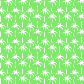 Palm Trees White On Green