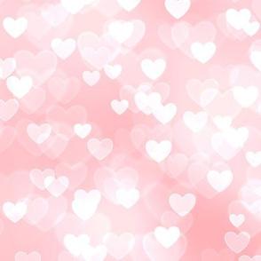 Girly Pink Theme Heart Bokeh #2
