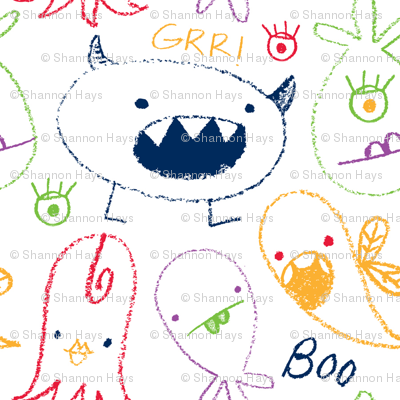 crayon monsters primary